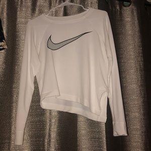 Nike Dri Fit Cropped Long Sleeve Shirt